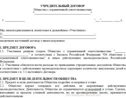 Учредительный договор (скачать)