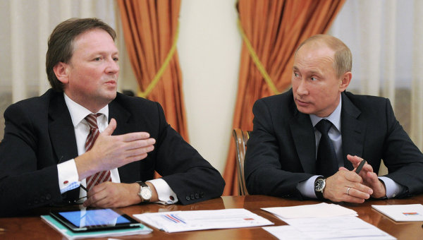 Президент РФ В. Путин провел деловую встречу с уполномоченным по правам предпринимателей Борисом Титовым