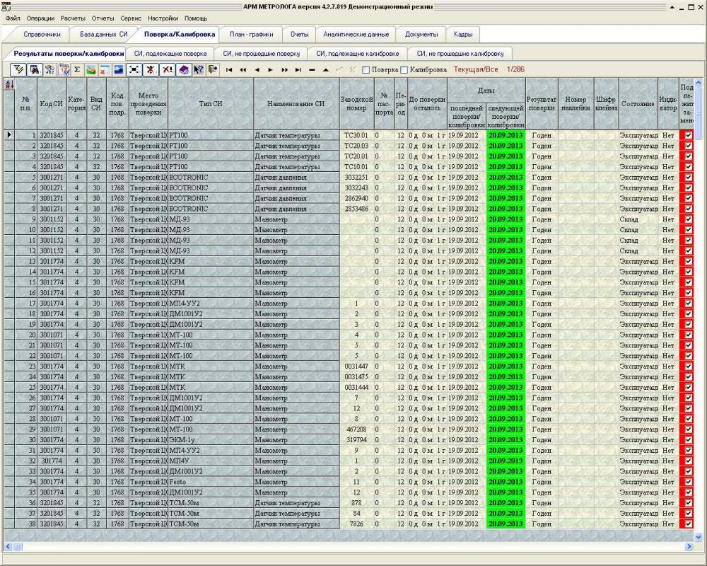 АРМ Метролога 4.2.7.819 скачать программу