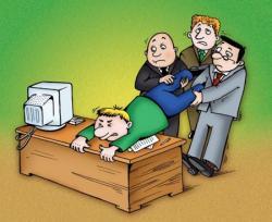 Как уходят в отпуск сотрудники офиса