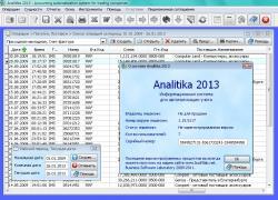Analitika 2013 1.15.5117 - Многопользовательская система для ведения учета в торговом предприятии.
